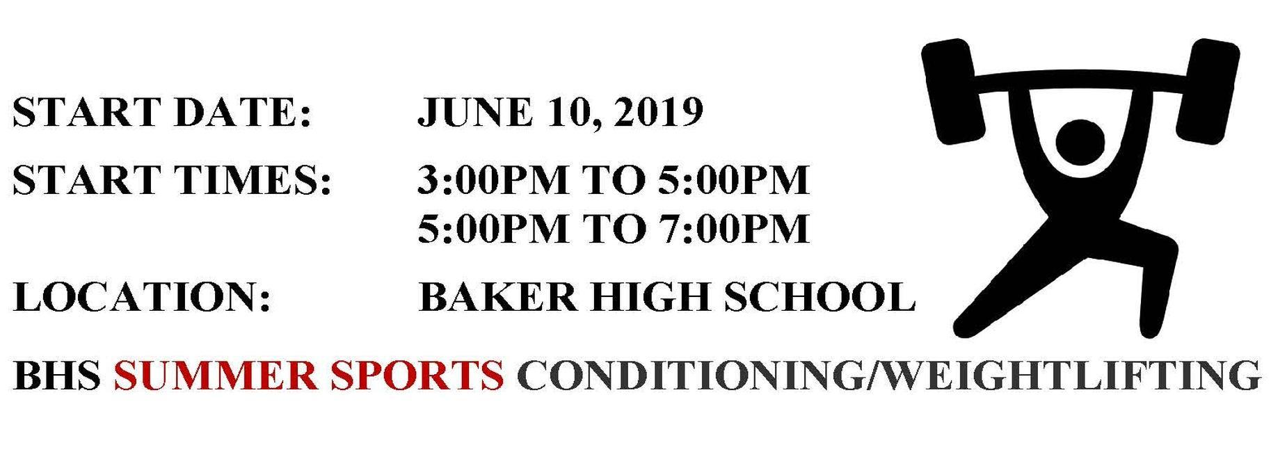 SUMMER SPORTS CONDITIONING/WEIGHTLIFTING