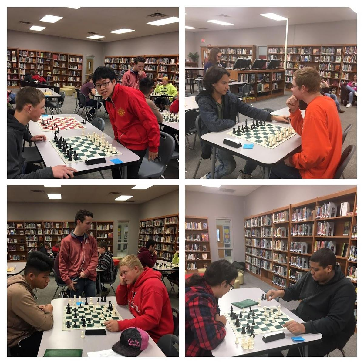 collage of chess participants