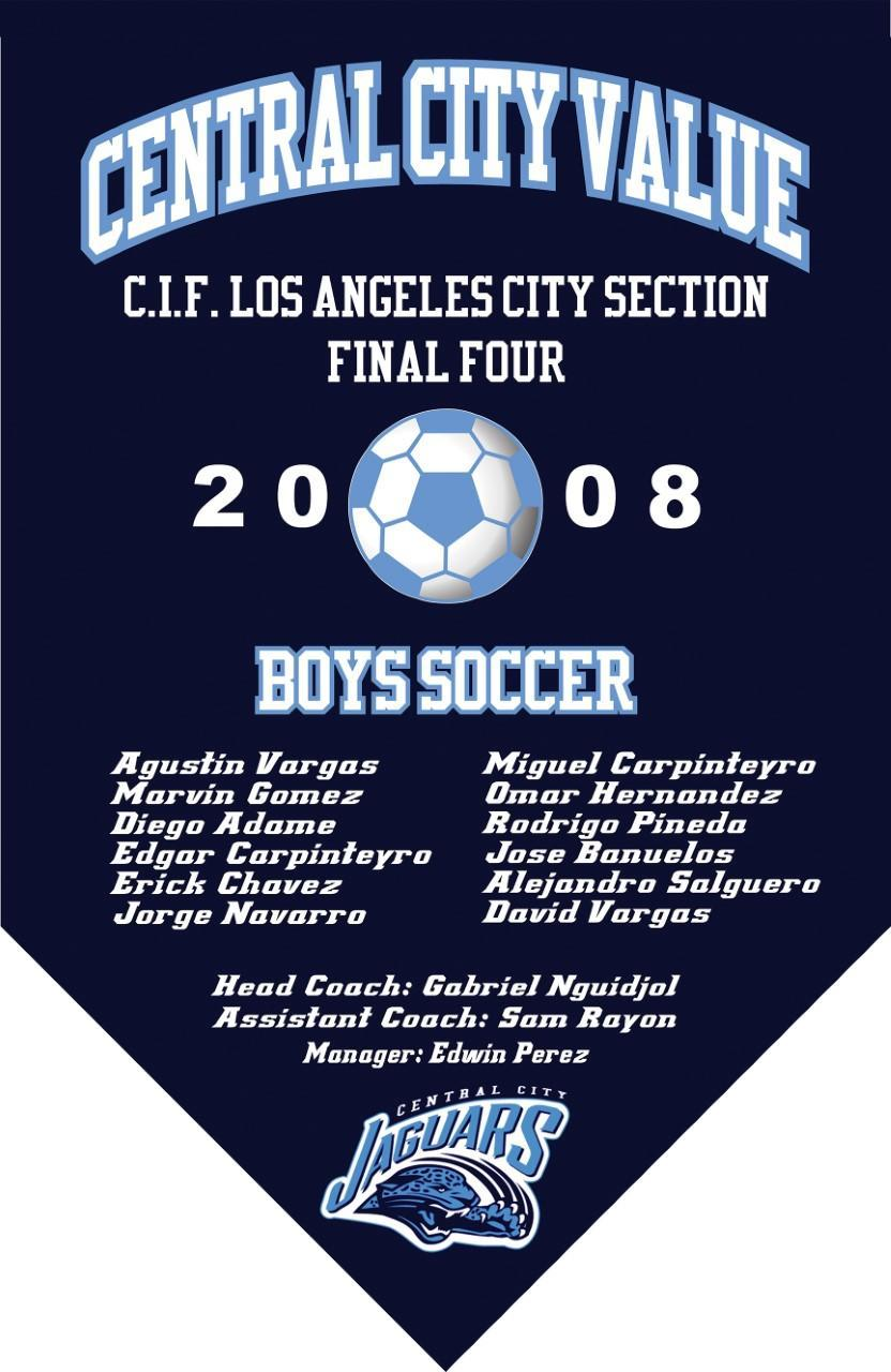 2008 Boys Soccer Final Four Banner