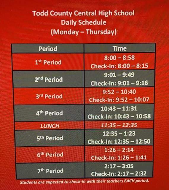 TCCHS Weekly Report Image