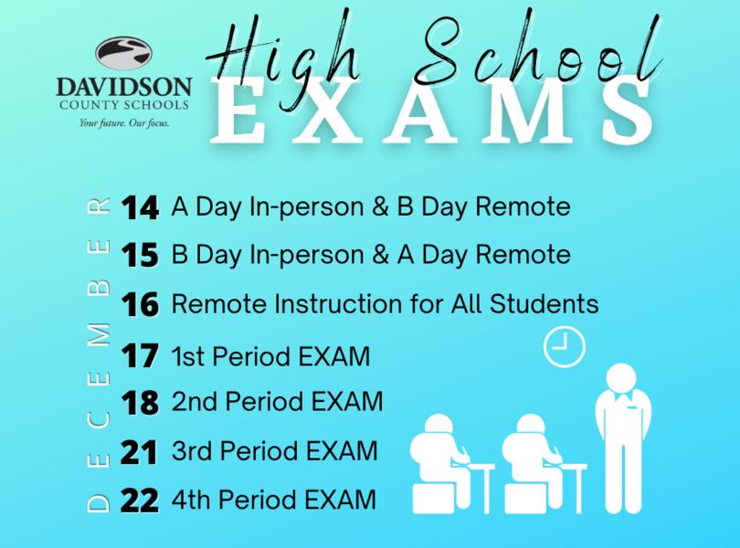 HS Exam Schedule