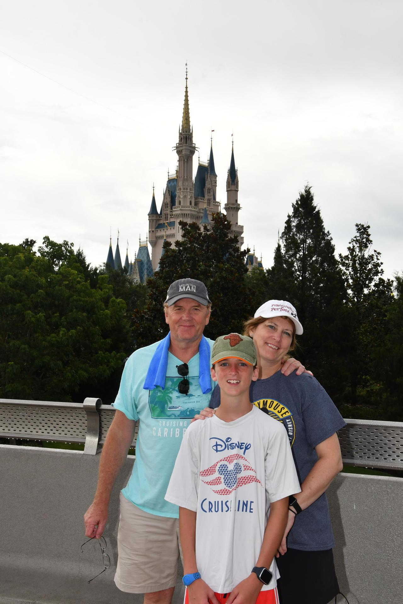 My family at Disney in 2019 supporting the CES Panther Cub Choir singing!