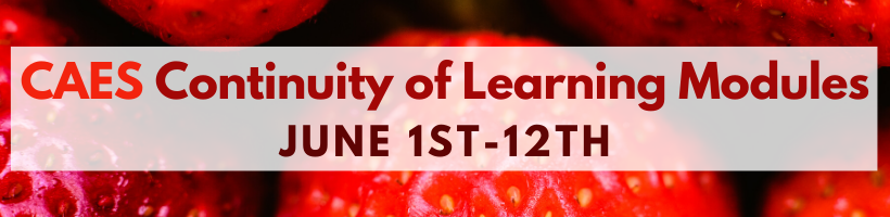 CAES Continuity of Learning Modules: June 1-12