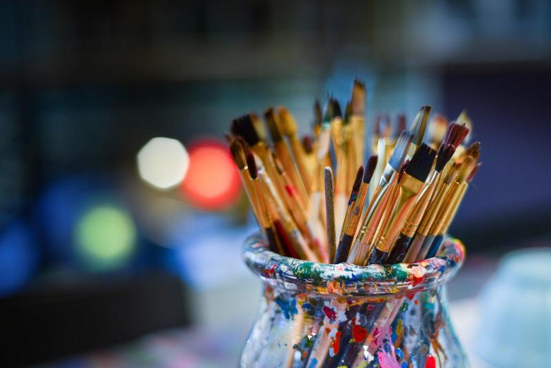Image of paint brushes