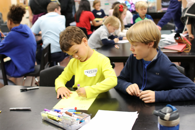 HPMS students team up with kindergartners for STEAM learning Featured Photo