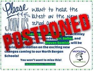 postponed meeting flyer