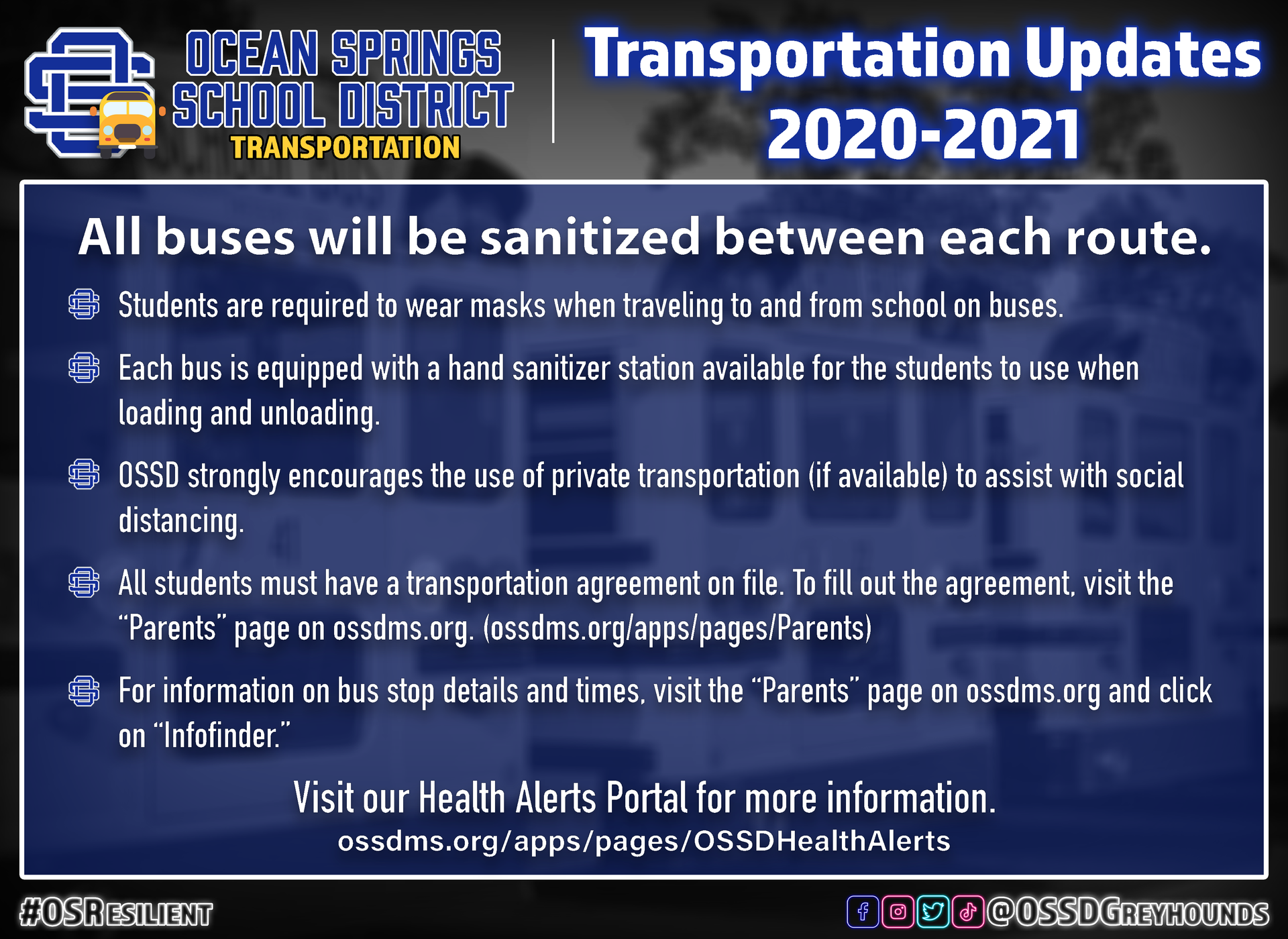 SY21 Transportation updates