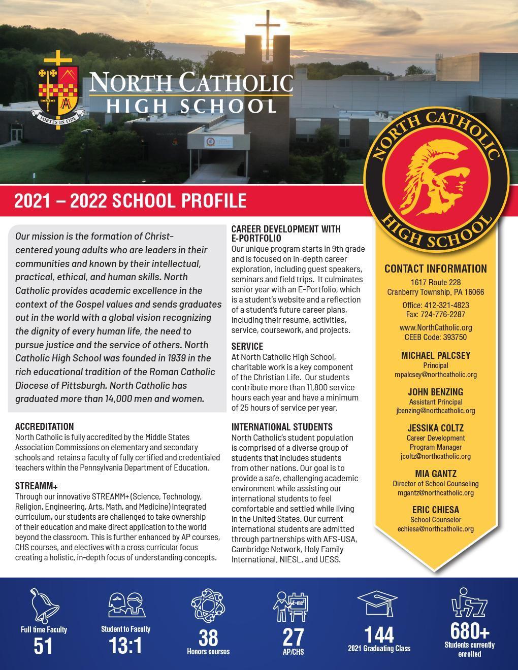 North Catholic School Profile