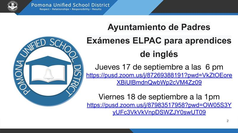 Parent Townhall - ELPAC/Ayuntamiento de Padres Exámenes ELPAC Featured Photo
