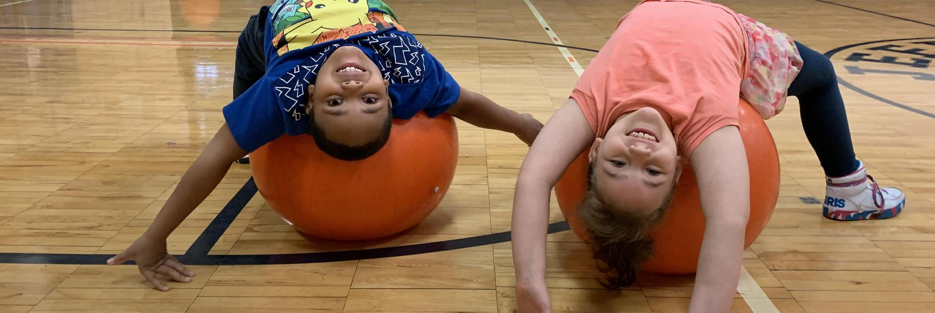 Students enjoying PE class with Mrs. Hempton.