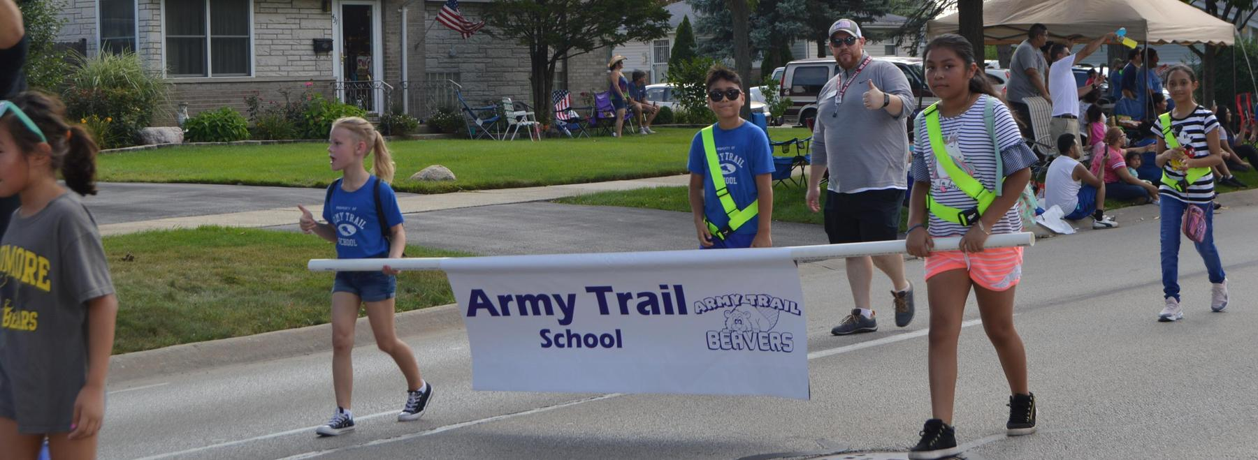 Army Trail in parade