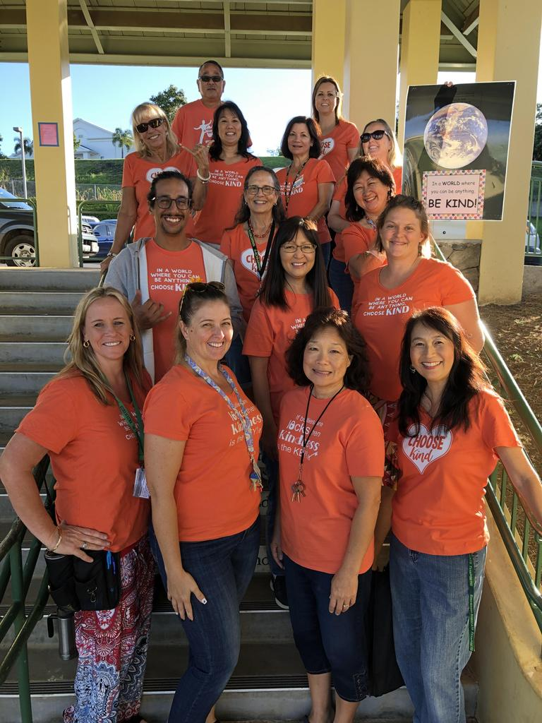 Unity Day Picture, Staff in orange shirts