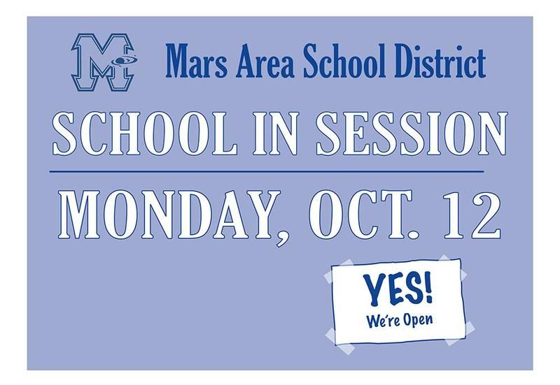 School is in Session on Monday, Oct .12
