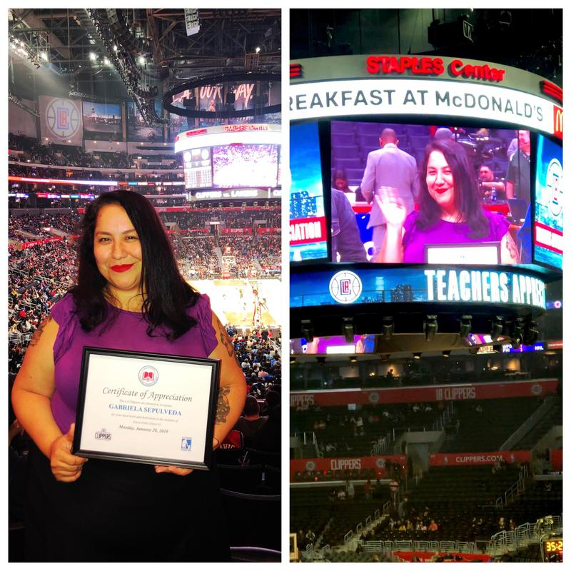 LA Clippers Recognize Ms Sepulveda Featured Photo