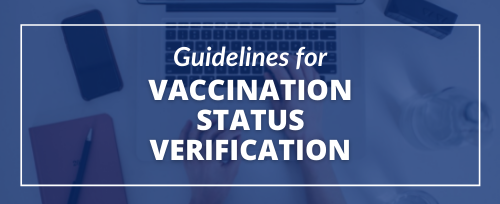 guidelines for vaccination status verification