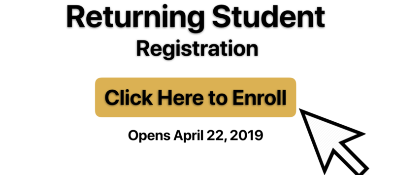 Returning Student Registration 2019 - 2020 Featured Photo