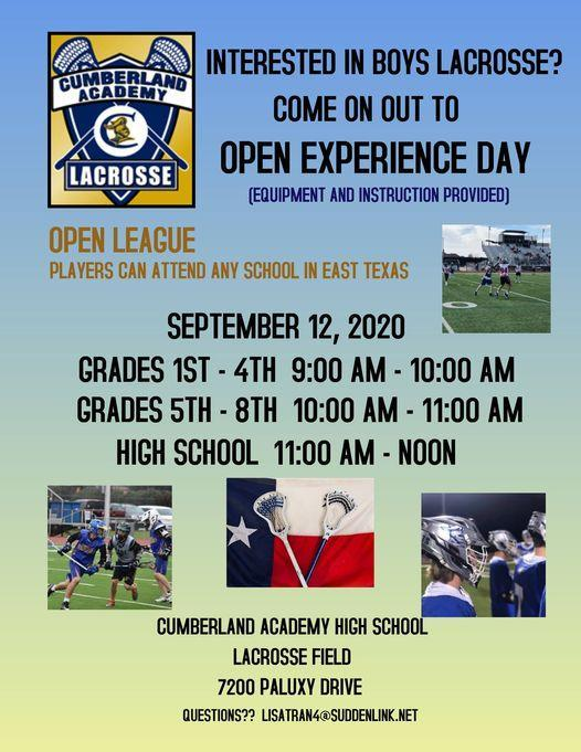Lacrosse Open Experience Information Featured Photo