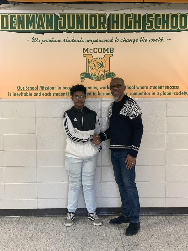Congratulation!! Thanks to Dr. Valerie Turner and Attorney Armistad for sponsoring an 8th grade scholar to take the February 8, 2020 ACT.  The scholar plans to major in music education.  #ItsComeBackTime
