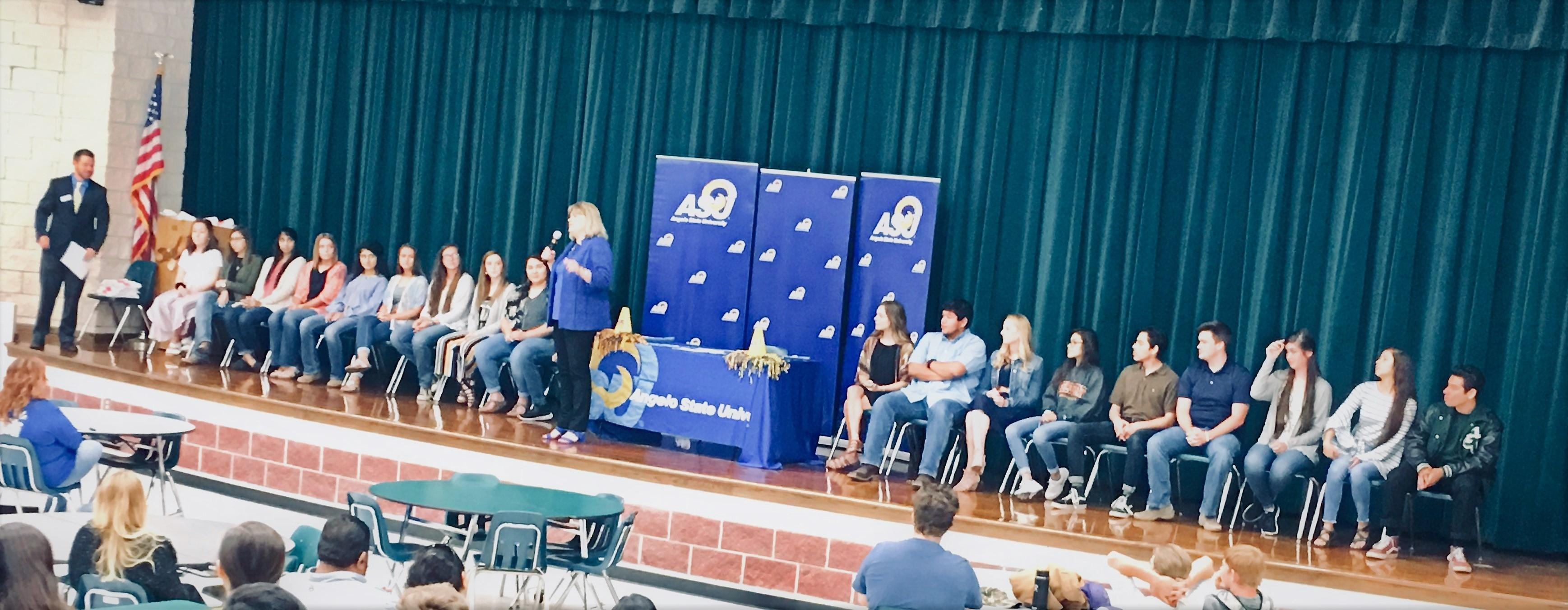Grape Creek High Seniors Signing ASU Carr Scholarship and Intent Letters Ceremony
