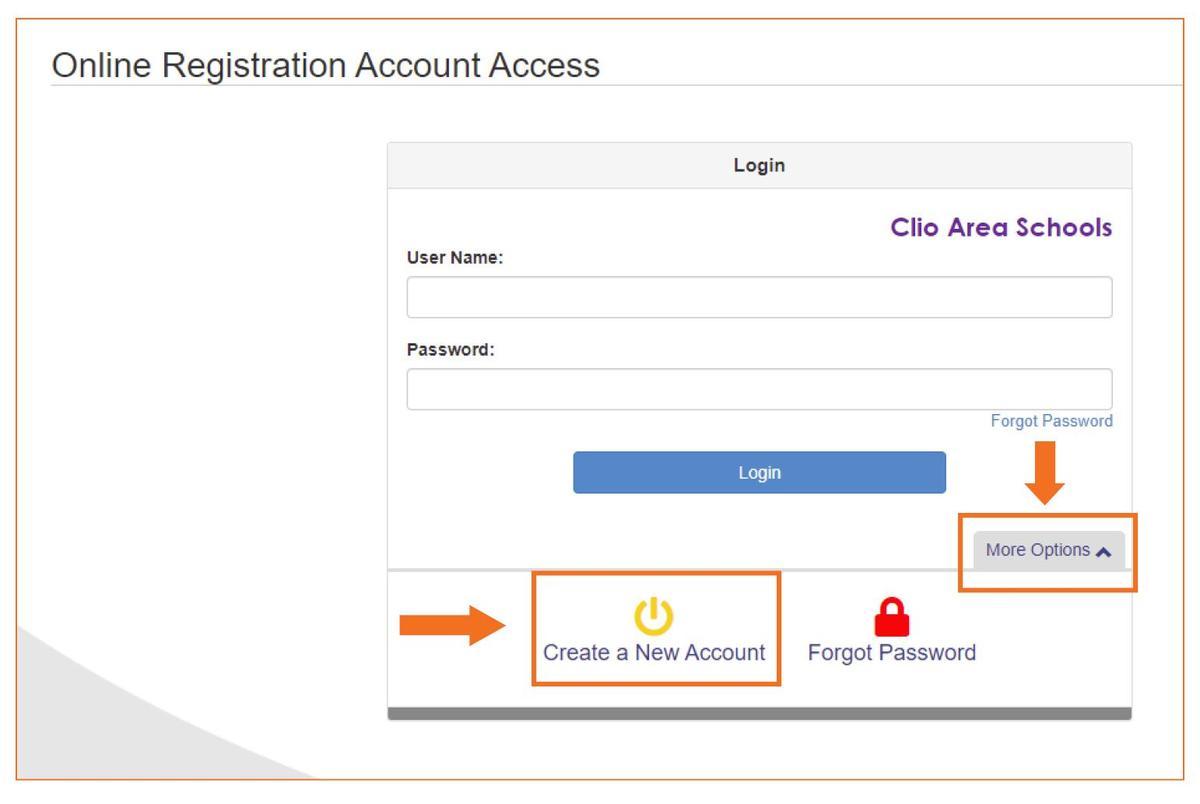 screen shot of PArentVue login page