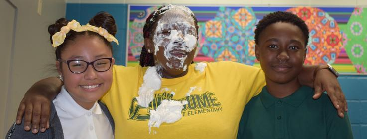 Summit Elementary Pie in the face event 2019