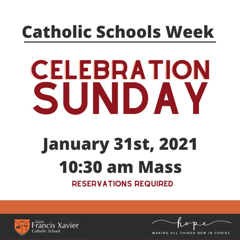 Catholic Schools Week Mass Reservations Thumbnail Image