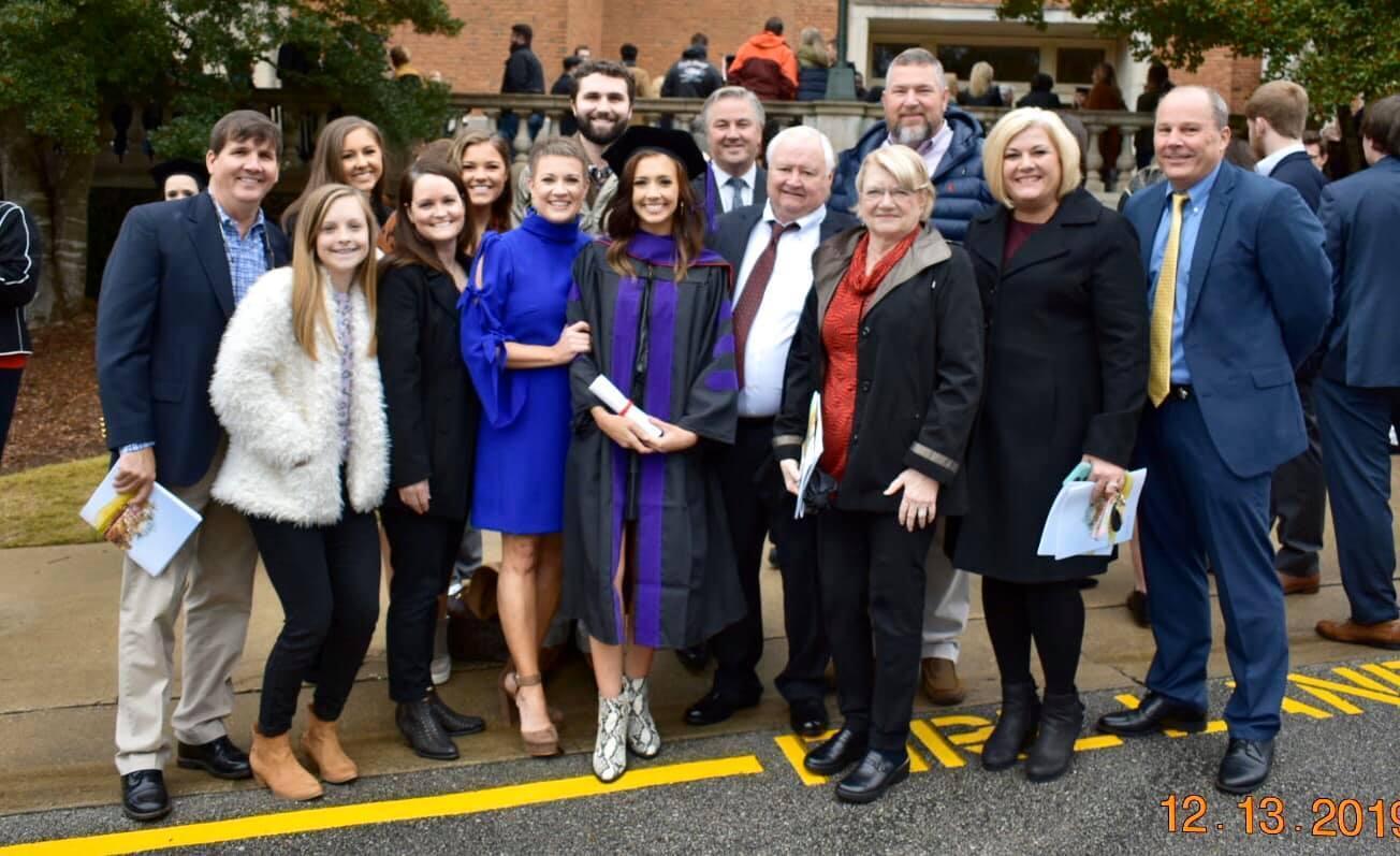 Caroline graduates from law school