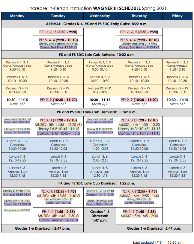 Full Day In Person Schedule