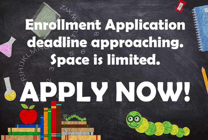 ENROLLMENT APPLICATION DEADLINE EXTENDED Featured Photo