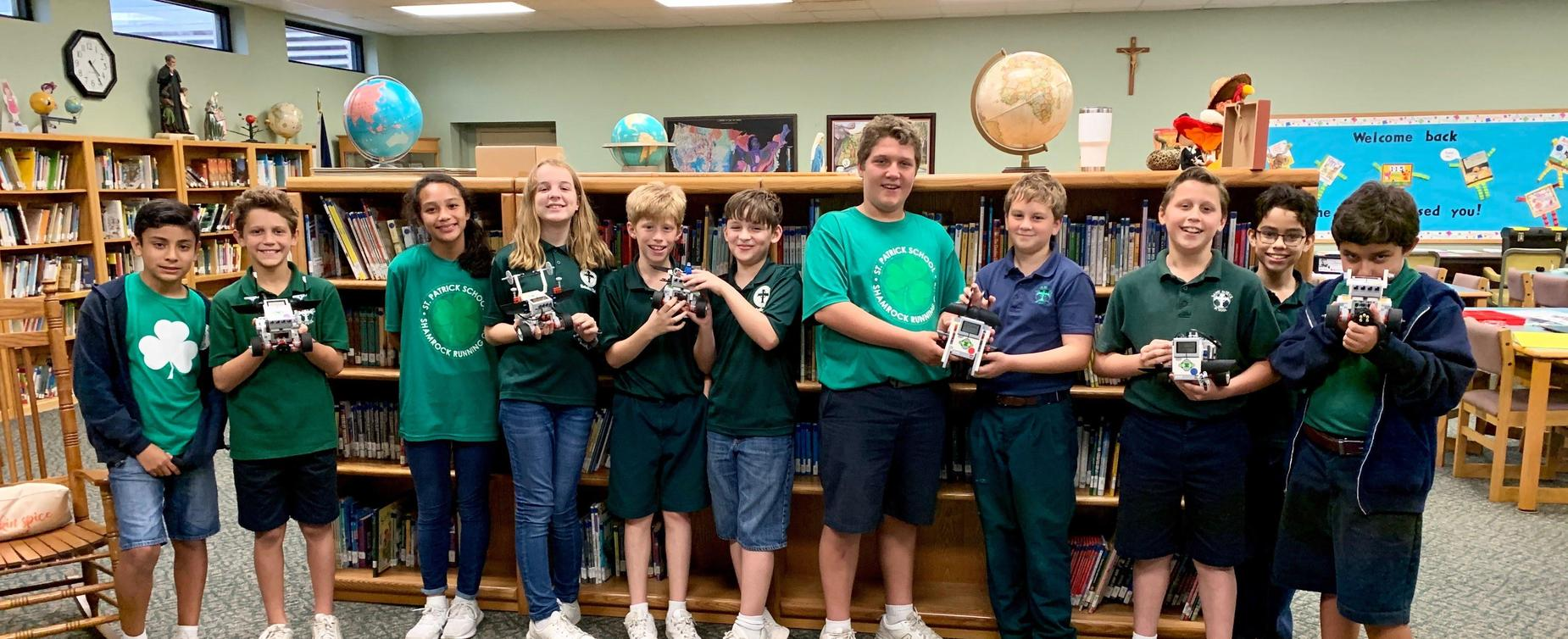 Student Innovators with Robots