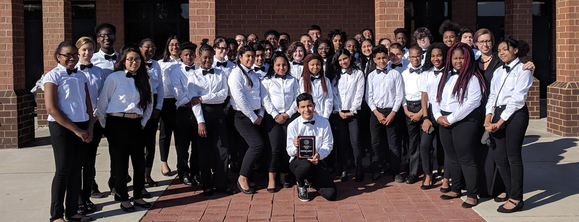 Hardeeville-Ridgeland Middle School Advanced Band Earns Excellent Rating at State Assessment