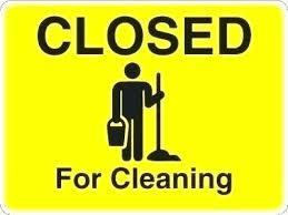 Closed for cleaning image