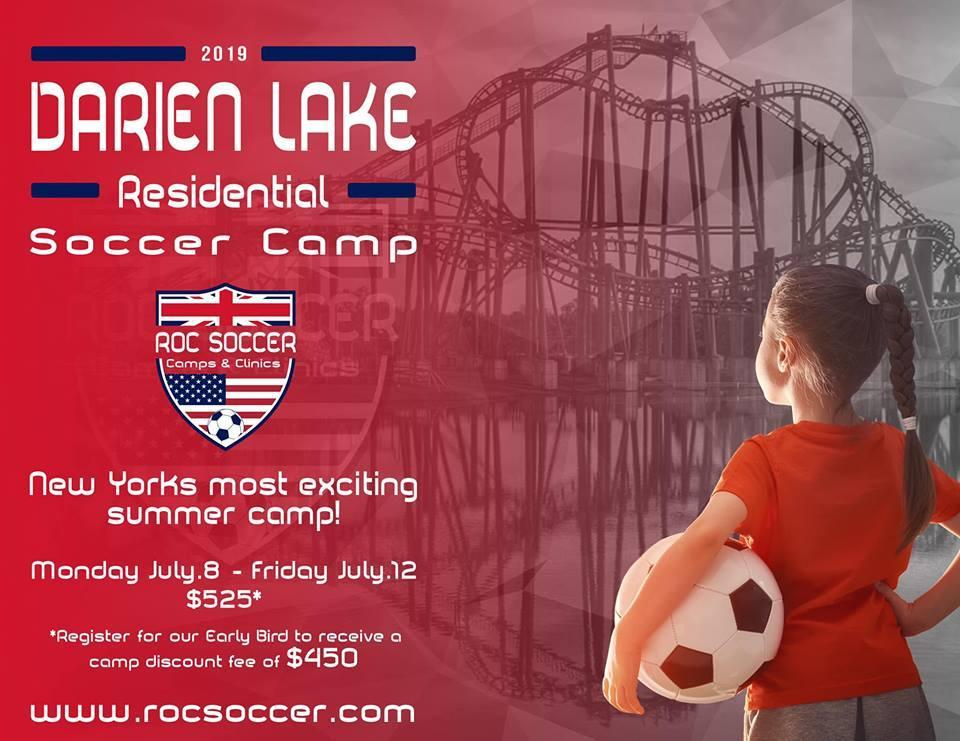Darien Lake Residential Soccer Camp Flyer