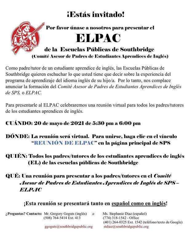 Flyer for event in Spanish. All wording is also in the body of the post.