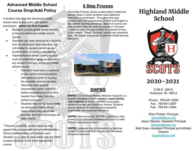 Highland Middle School Information