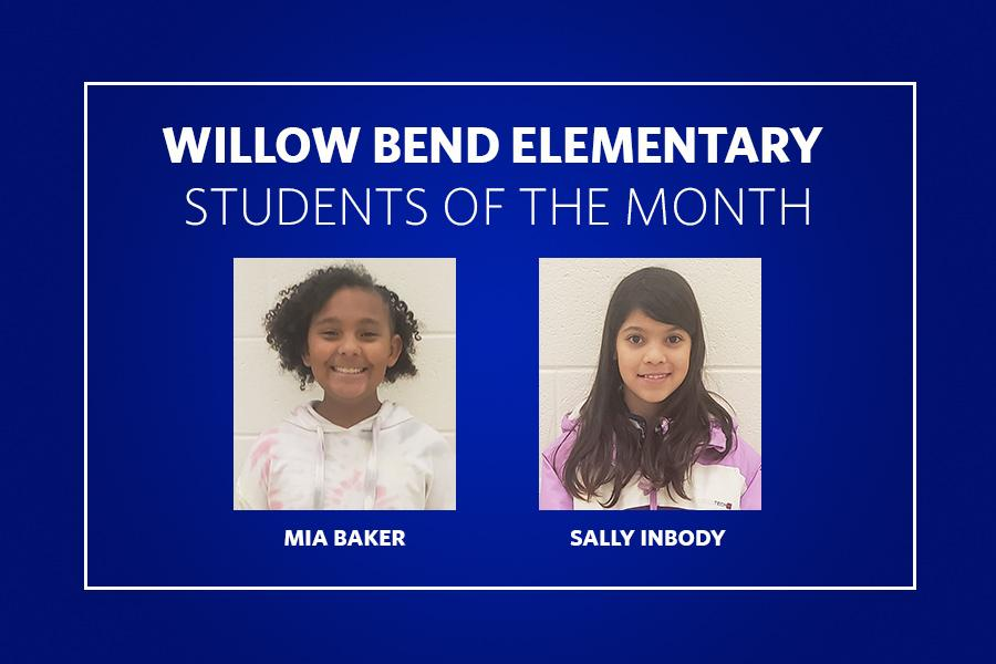 Willow Bend Students of the Month