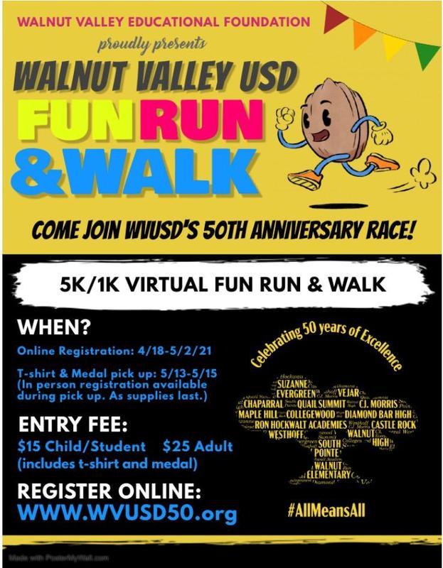 WVUSD 50th Anniversary celebratory Fun Run Featured Photo