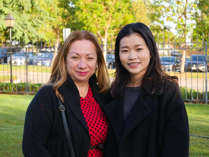 Katherine Hong and her host mother