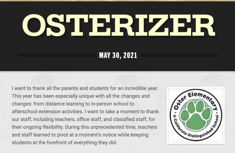 Osterizer - May 30th, 2021 Featured Photo
