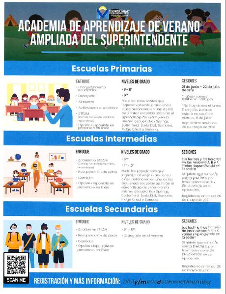 Summer Learning Academy Spanish