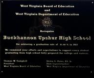 The all-time high graduation rate for Buckhannon-Upshur High School.