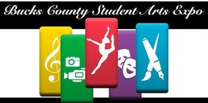 Bucks County Student Art Expo Logo with yellow, green, red, purple and blue