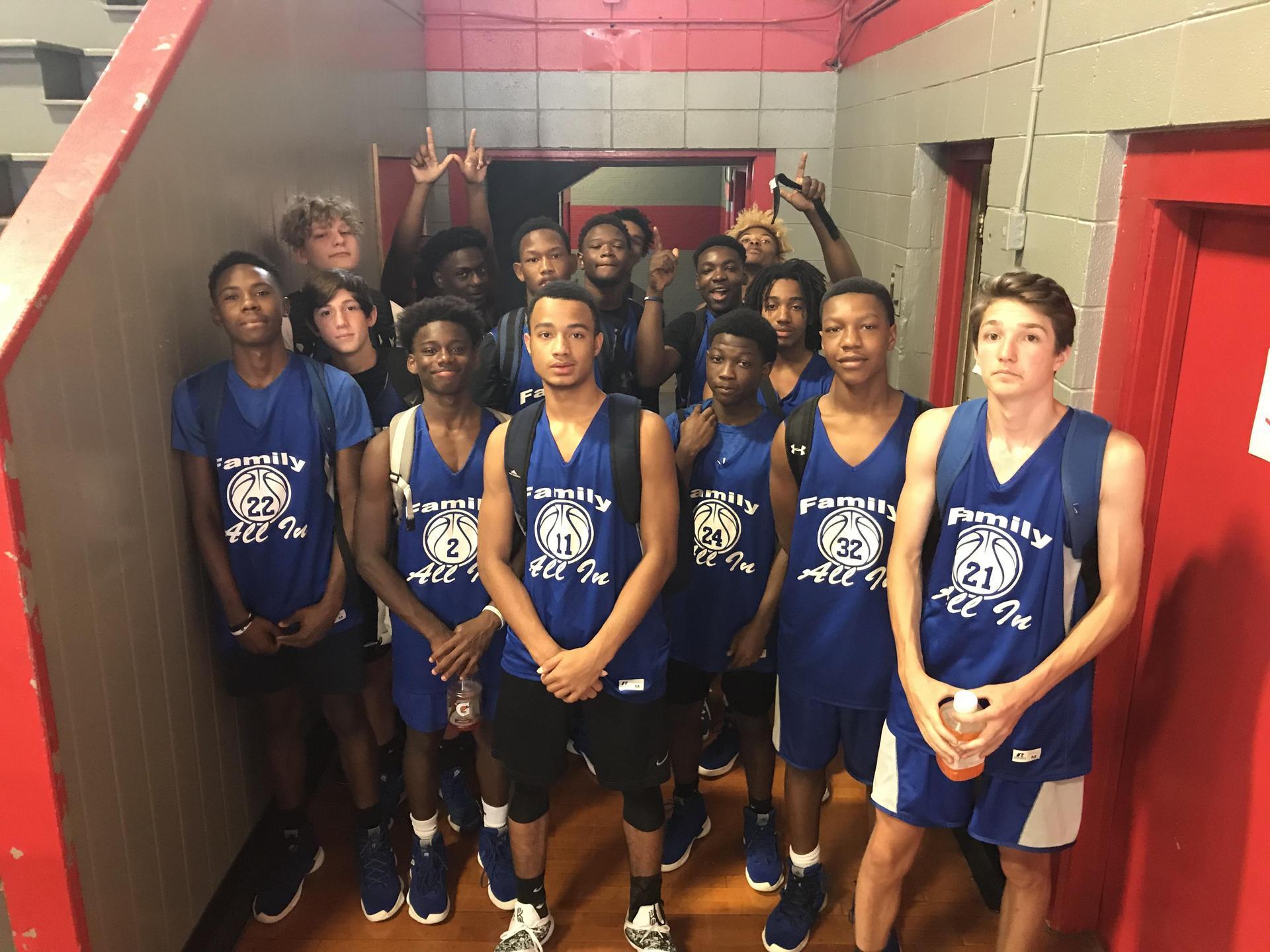 Southeast High School basketball players