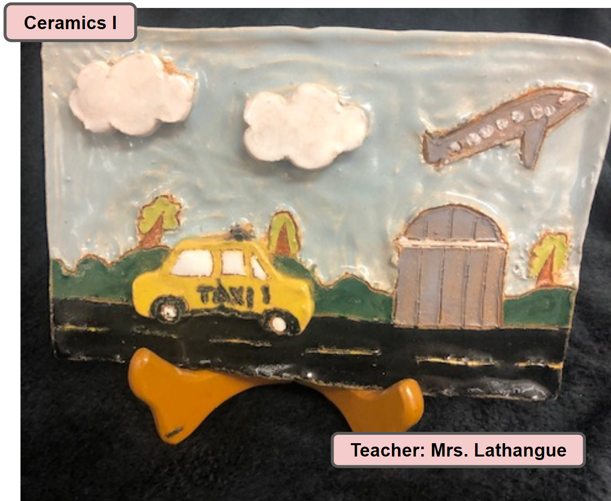 Ceramics One Art Class Project - Teacher Mrs. Lathangue - Cityscape