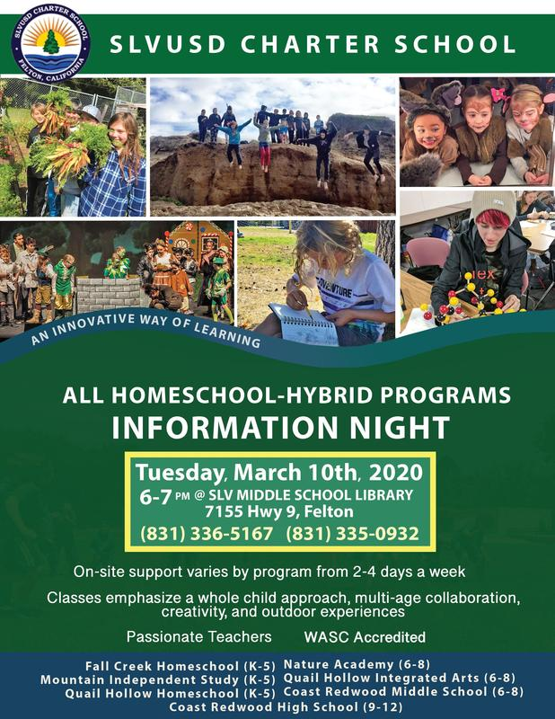 All Homeschool-Hybrid Programs Information Night • March 10, 2020