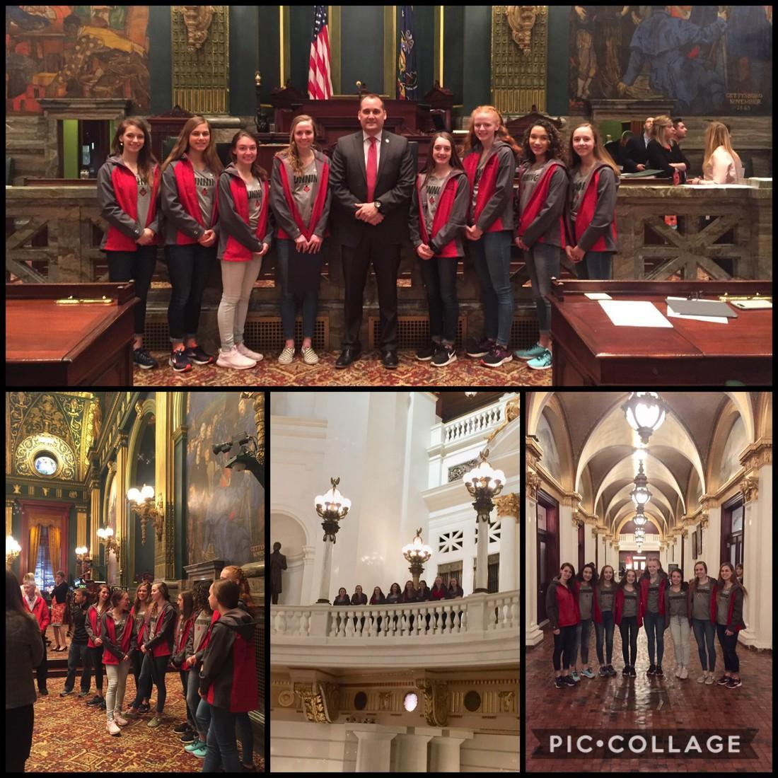 Girls Cross Country visits state capital