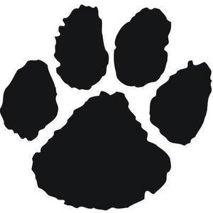 large cat paw print