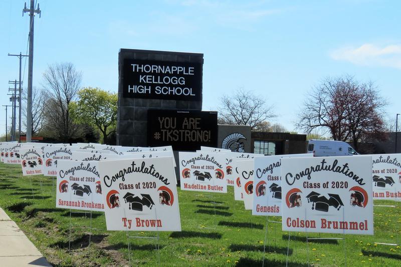The sign reminds TK seniors