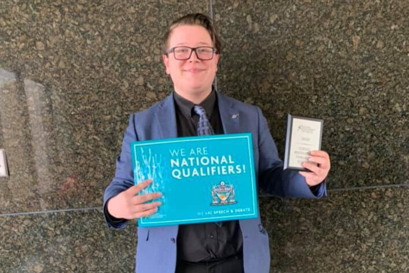 FHS Student Alex Lopez advances to national speech and debate tournament