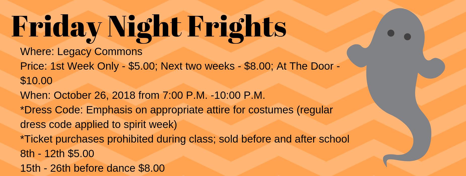 Halloween Dance 10/26 7-10 pm at LECHS